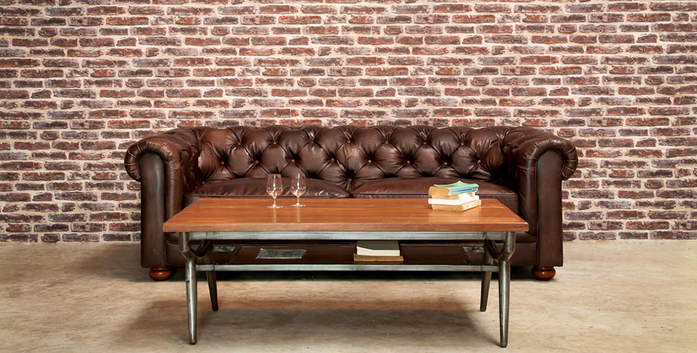 Adoptez le style vintage inspiration deko - Table basse chesterfield ...