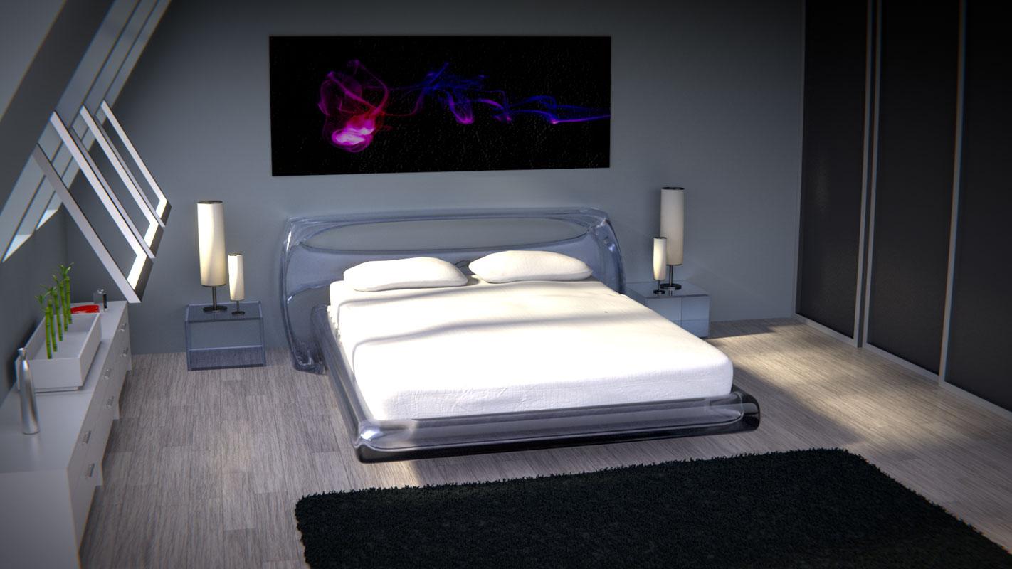 "Lit ""Pure Bed"", Richard Orlinski pour Steiner"